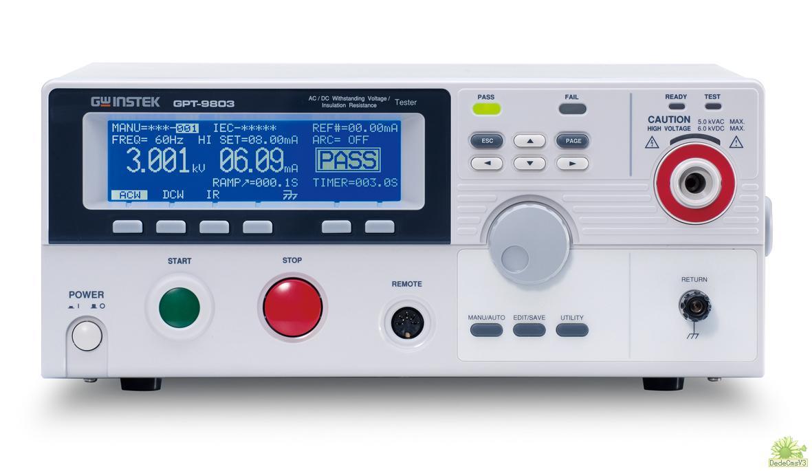 GPT-9804耐压绝缘测试仪|台湾固纬GPT-9804绝缘耐压测试仪